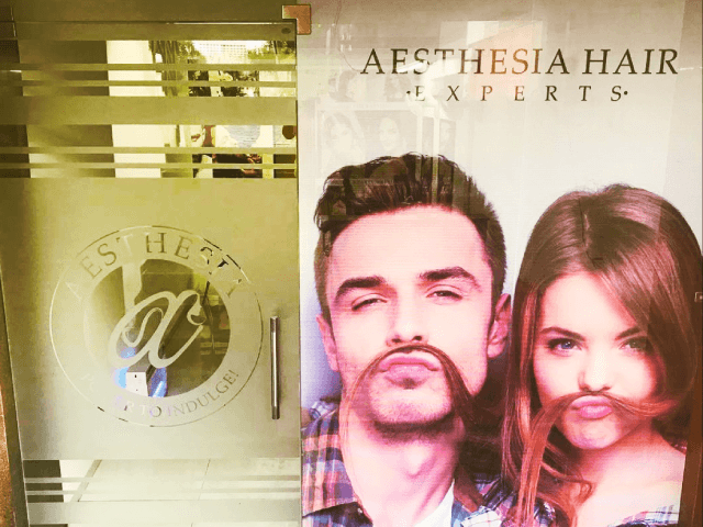 Aesthesia Hair Experts Zirakpur - Get Rebonding/smoothing( any length) + Haircut + Hairspa ( Matrix/ L'oreal)