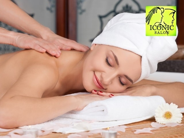 Iconic Unisex Salon -Get Smoothening Service ( Medium Length ) in Rs. 2999 Only