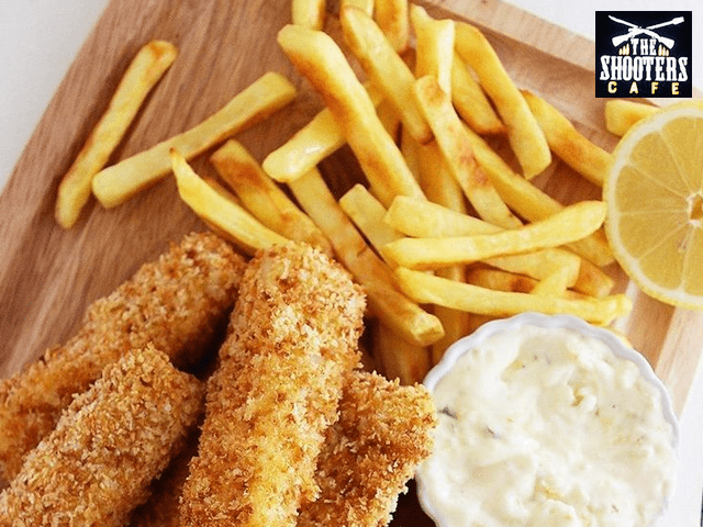 The Shooters Cafe Mohali - Get An Amazing Discount offers On Fish And Chips With Fries and Garlic Breads