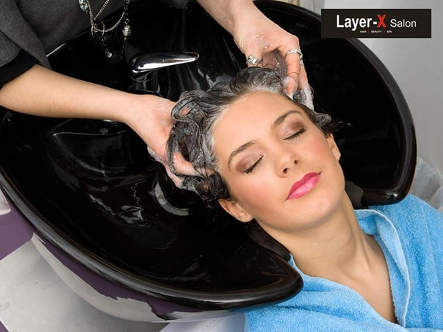 Layer-X Salon & Spa Chandigarh- L'Oreal/ Matrix Nourishing Hair Spa in Just Rs. 299