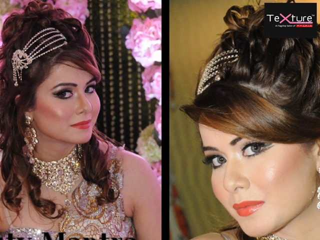 Texture Salon Spa Amritsar Get Party Makeup With Open Hairstyle In