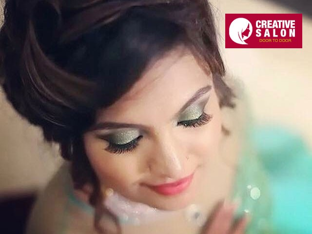 Door 2 Door  - Get  Party makeup with hair styling and Dressing Rs. 1000 Only