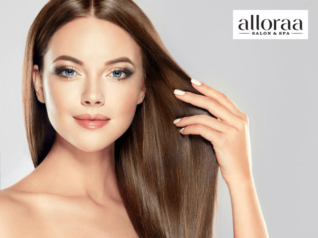 Alloraa Salon & Spa Mohali - Get Smoothning / Rebonding in 1899 Only.