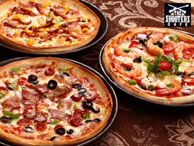 The Shooters Cafe Mohali - Enjoy Best Offers on Pizza Buy 2 Get 1 Free