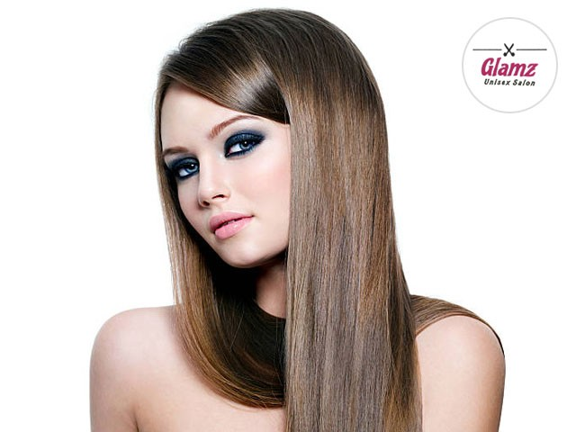 Glamz Salon Phase 10 Mohali - Get Smoothing (any length) + O3+ Facial in rs. 2999 Only