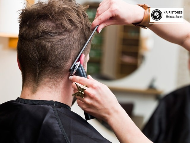 Hair Stone Unisex Salon Mohali - Get Hair Cut + Head Massage + Under Arms