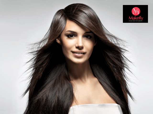Makefly salon mohali - Get Keratin + 2 Hair Spa + Pedicure in 2899 Only