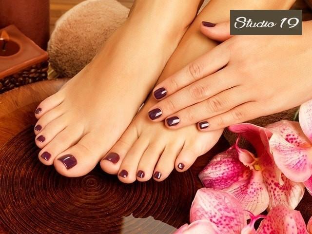 Studio 19 Unisex Salon Get Bleach Clean Up Pedicure Manicure In