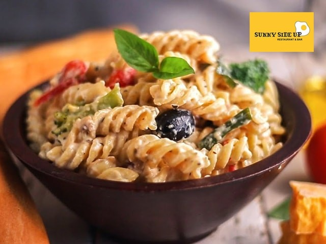 Sunny Side Up Jalandhar -Get Non Veg Pasta + Mocktail / Soup in Rs.249 Only