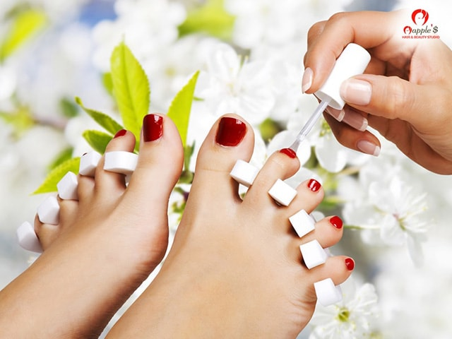 Get Pedicure Deal On Discount at Mapple's Hair & Beauty Studio Mohali