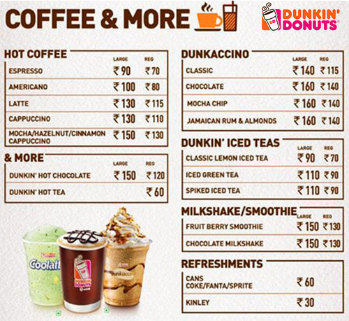 Buy 1 item from menu and another 1 offer at dunkin donuts for Ajuba indian cuisine