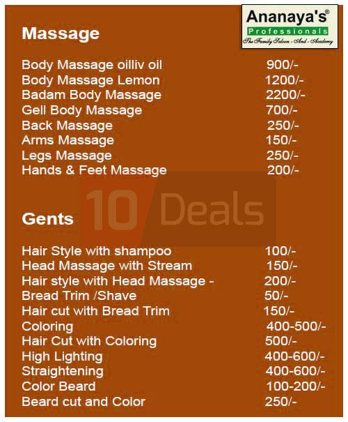 deals mohali body massage olive facial bloom